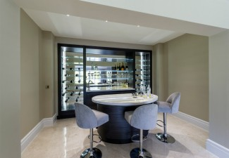990x658px Awesome  Contemporary Bar Table With Chairs Photo Ideas Picture in Wine Cellar