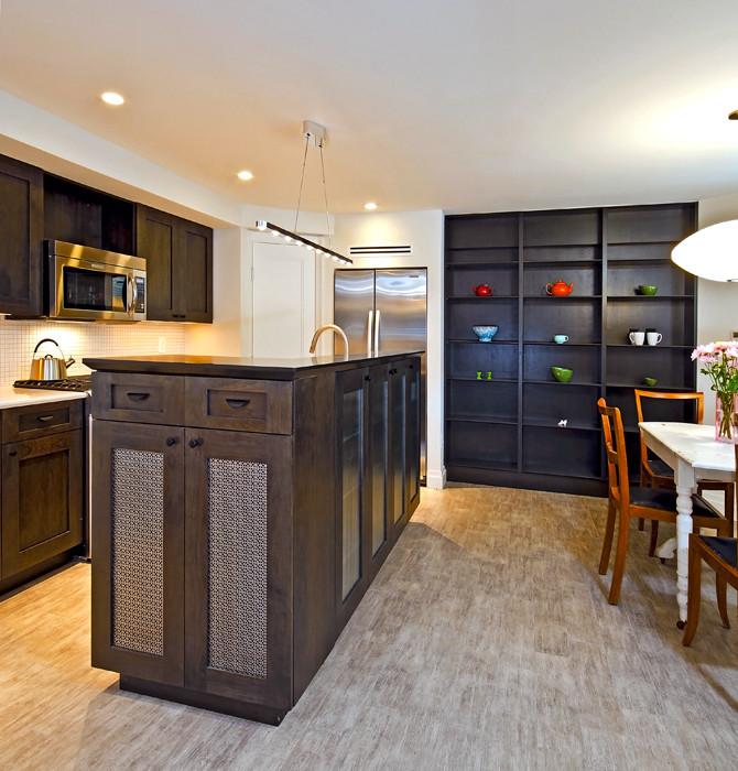 Kitchen , Cool  Contemporary Kitchen Display Shelves Inspiration : Gorgeous  Contemporary Kitchen Display Shelves Photos