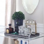 Gorgeous  Contemporary Lucite Bar Cart Image Inspiration , Stunning  Eclectic Lucite Bar Cart Photo Ideas In Dining Room Category