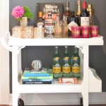 Gorgeous  Contemporary White Bar Cart Image Inspiration , Breathtaking  Farmhouse White Bar Cart Picture Ideas In Spaces Category