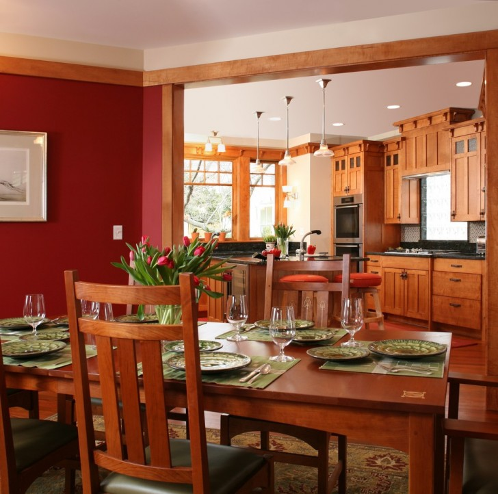Dining Room , Beautiful  Craftsman Wood Table Sets Inspiration : Gorgeous  Craftsman Wood Table Sets Photo Ideas