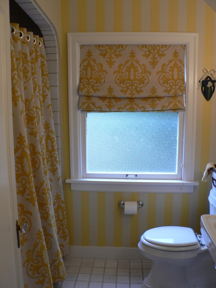 Bathroom , Beautiful  Eclectic Curtains For A Bathroom Window Picute : Gorgeous  Eclectic Curtains for a Bathroom Window Inspiration