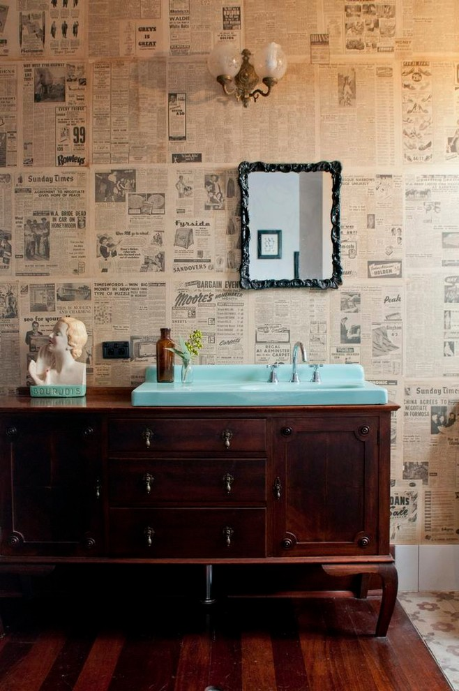 Bathroom , Breathtaking  Eclectic Very Small Bathroom Vanities Photo Ideas : Gorgeous  Eclectic Very Small Bathroom Vanities Image
