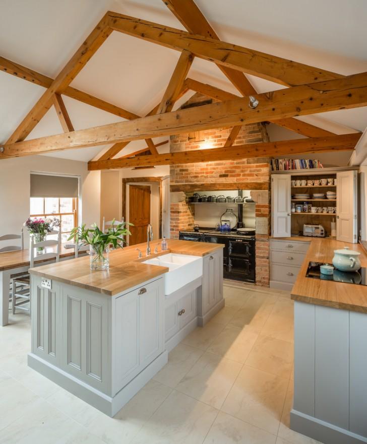 Kitchen , Wonderful  Farmhouse Kitchen Cabinet Countertops Image Ideas : Gorgeous  Farmhouse Kitchen Cabinet Countertops Photo Inspirations