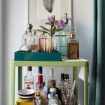 Gorgeous  Midcentury Vintage Bar Cart Photo Inspirations , Stunning  Shabby Chic Vintage Bar Cart Image Ideas In Dining Room Category