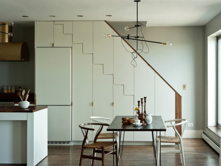 Dining Room , Charming  Modern Storage Kitchen Table Image Ideas : Gorgeous  Modern Storage Kitchen Table Image