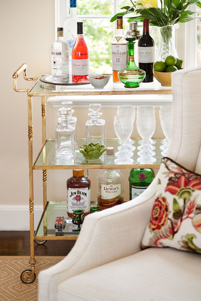 Living Room , Wonderful  Traditional Gold Bar Cart Image Ideas : Gorgeous  Traditional Gold Bar Cart Image Inspiration