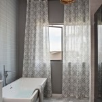 Lovely  Contemporary Curtains for a Bathroom Window Photos , Beautiful  Eclectic Curtains For A Bathroom Window Picute In Bathroom Category