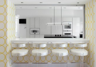 792x990px Stunning  Contemporary Kitchen Wallpaper Border  Ideas Picture in Kitchen