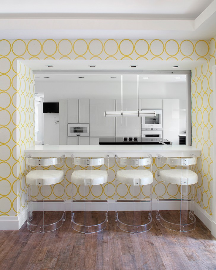 Kitchen , Stunning  Contemporary Kitchen Wallpaper Border  Ideas : Lovely  Contemporary Kitchen Wallpaper Border  Image