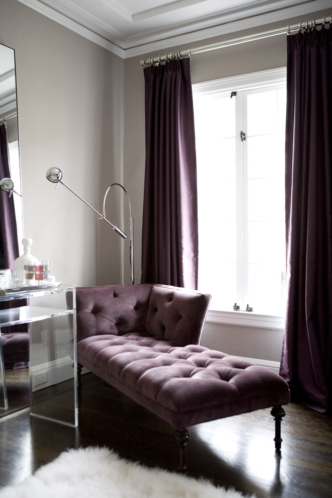 Living Room , Lovely  Contemporary Purple Parsons Chair Picture Ideas : Lovely  Contemporary Purple Parsons Chair Inspiration
