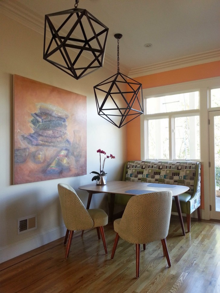 Dining Room , Beautiful  Contemporary Upholstered Kitchen Nooks Inspiration : Lovely  Contemporary Upholstered Kitchen Nooks Picture