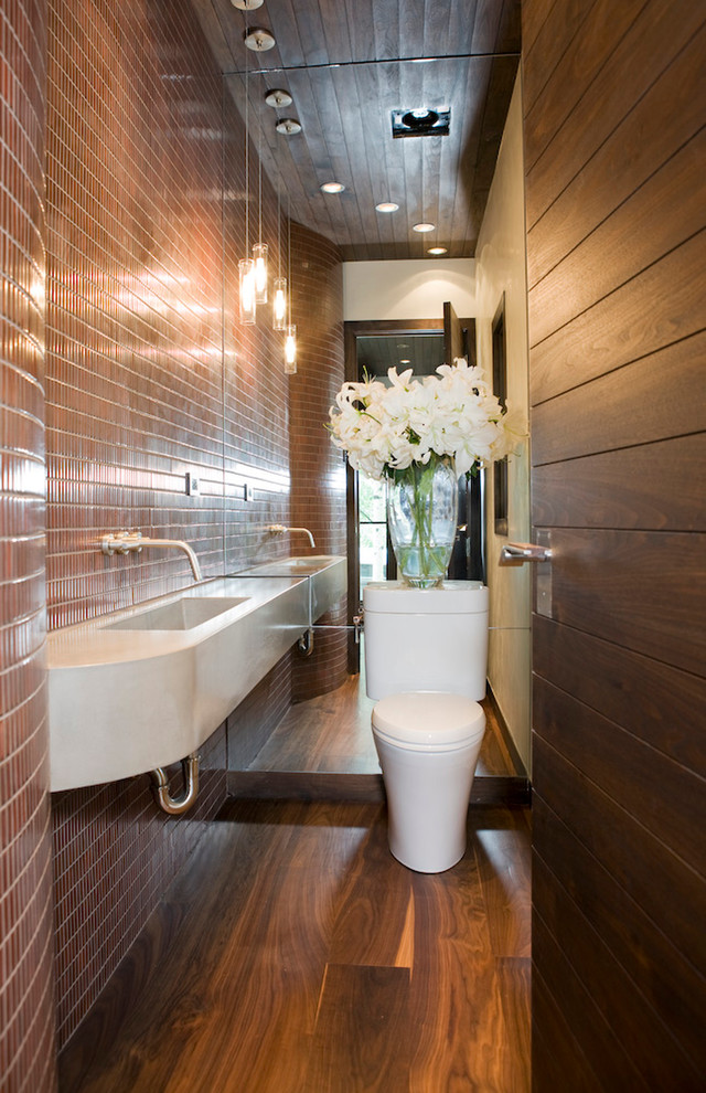 Bathroom , Lovely  Contemporary Wall Mounted Sinks For Small Bathrooms Photo Ideas : Lovely  Contemporary Wall Mounted Sinks for Small Bathrooms Image Inspiration