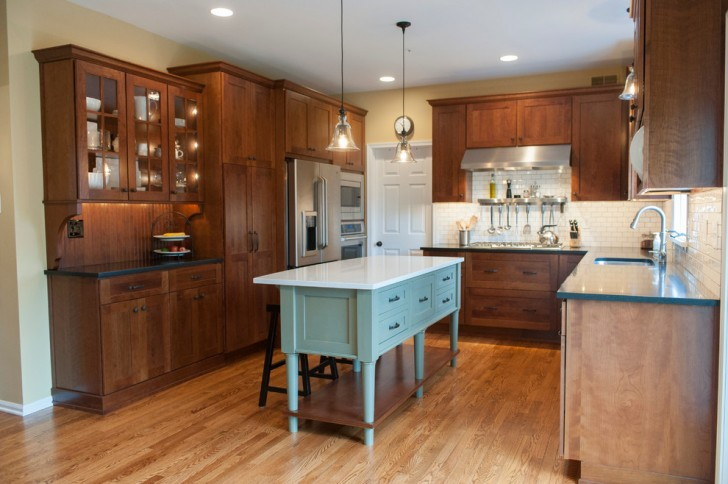 Kitchen , Breathtaking  Craftsman Furniture Style Kitchen Island Image Inspiration : Lovely  Craftsman Furniture Style Kitchen Island Image Ideas