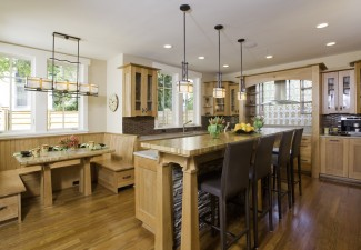 990x630px Fabulous  Craftsman Kitchen Dining Booth Image Inspiration Picture in Kitchen
