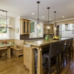 Lovely  Craftsman Kitchen with Breakfast Nook Picture , Cool  Traditional Kitchen With Breakfast Nook Inspiration In Family Room Category