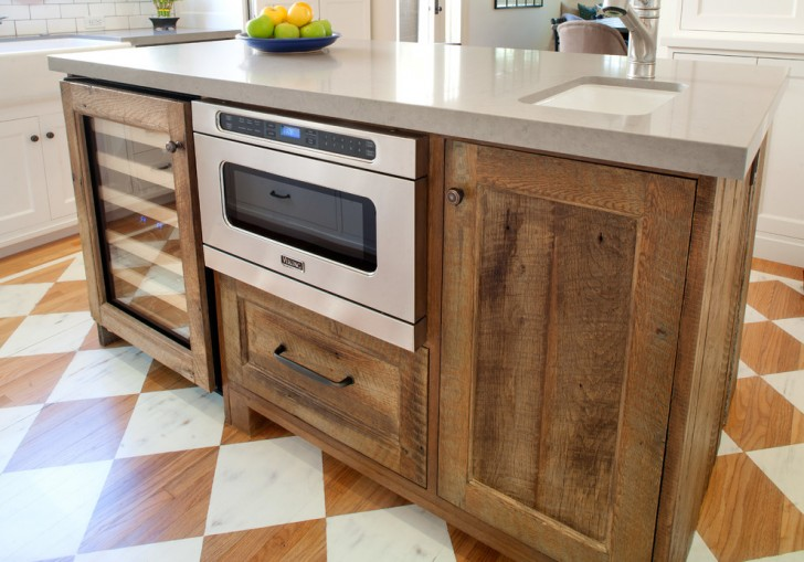 Kitchen , Lovely  Craftsman Microwave In Kitchen Island Inspiration : Lovely  Craftsman Microwave in Kitchen Island Ideas