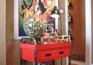 636x990px Cool  Eclectic Old Fashioned Bar Cart Inspiration Picture in Family Room