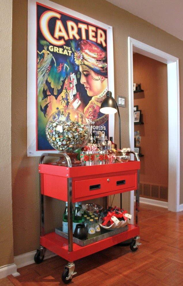 Family Room , Cool  Eclectic Old Fashioned Bar Cart Inspiration : Lovely  Eclectic Old Fashioned Bar Cart Inspiration