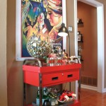 Lovely  Eclectic Red Microwave Cart Ideas , Fabulous  Traditional Red Microwave Cart Ideas In Hall Category