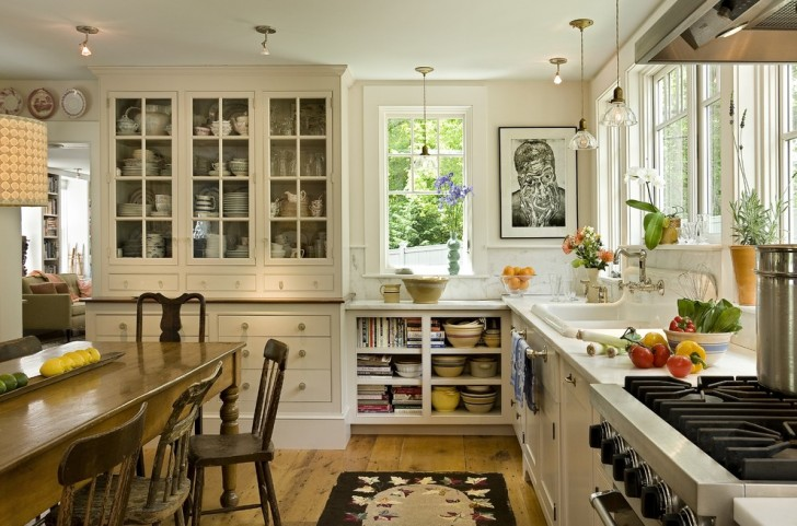 Kitchen , Cool  Farmhouse Cabinets Ideas Kitchen Inspiration : Lovely  Farmhouse Cabinets Ideas Kitchen Picture Ideas