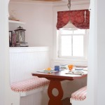 Lovely  Farmhouse Corner Diner Booth Photo Inspirations , Stunning  Shabby Chic Corner Diner Booth Image Ideas In Dining Room Category