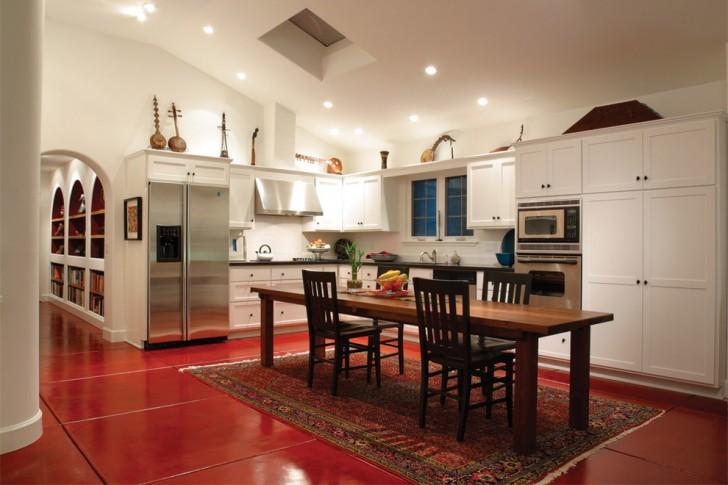 Kitchen , Charming  Mediterranean Best Kitchen Table Image Ideas : Lovely  Mediterranean Best Kitchen Table Picture