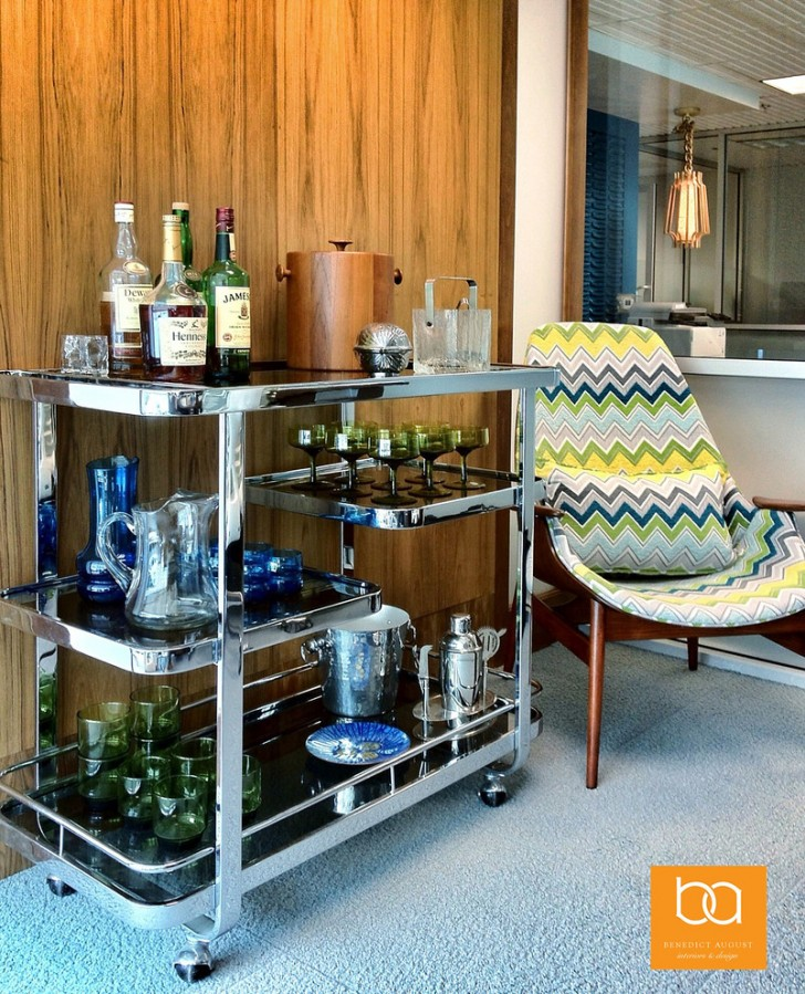 Spaces , Stunning  Midcentury Cool Bar Carts Photo Inspirations : Lovely  Midcentury Cool Bar Carts Photo Inspirations