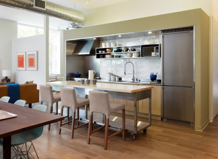 Kitchen , Beautiful  Modern Mobile Kitchen Island With Seating Image Ideas : Lovely  Modern Mobile Kitchen Island with Seating Photo Ideas