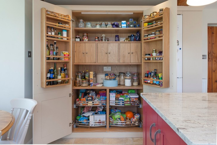 Kitchen , Beautiful  Traditional Oak Pantry Storage Cabinet Photos : Lovely  Traditional Oak Pantry Storage Cabinet Photos