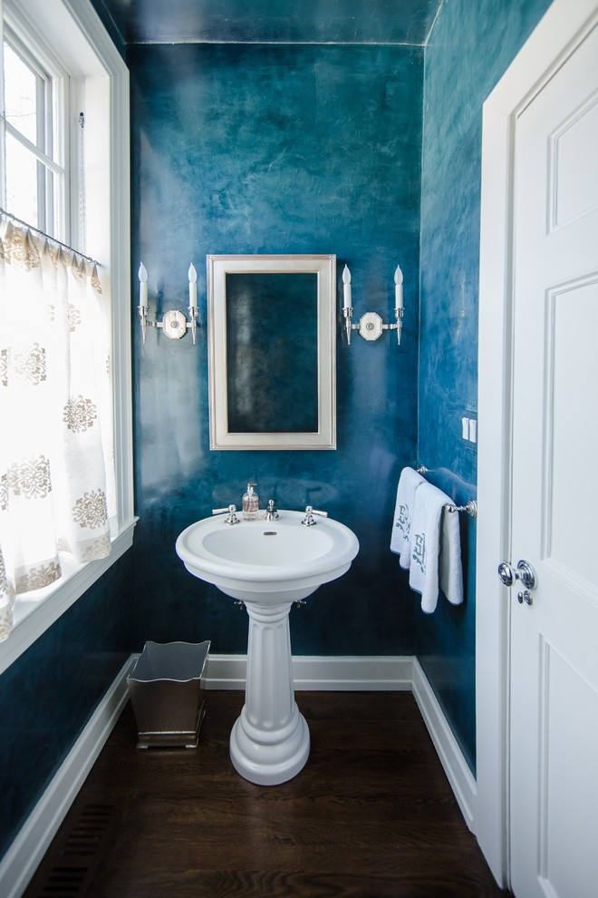 Powder Room , Lovely  Traditional Pedestal Sink For Small Bathroom Photo Inspirations : Lovely  Traditional Pedestal Sink for Small Bathroom Ideas