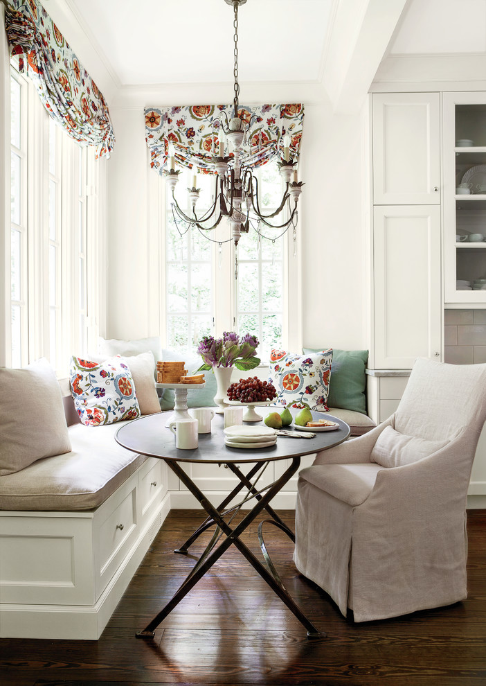 Kitchen , Beautiful  Traditional Unfinished Breakfast Nook Image : Lovely  Traditional Unfinished Breakfast Nook Ideas