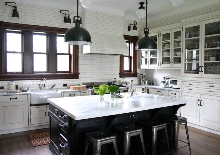 Kitchen , Lovely  Traditional White Kitchen Hutches Image Ideas : Lovely  Traditional White Kitchen Hutches Photos