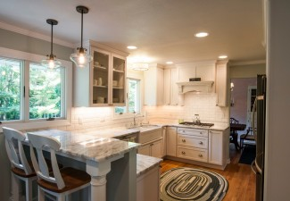 990x658px Stunning  Transitional Thin Granite Countertop Overlay Photos Picture in Kitchen