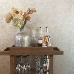 Home Office , Lovely  Victorian Wooden Bar Cart Image : Lovely  Transitional Wooden Bar Cart Image