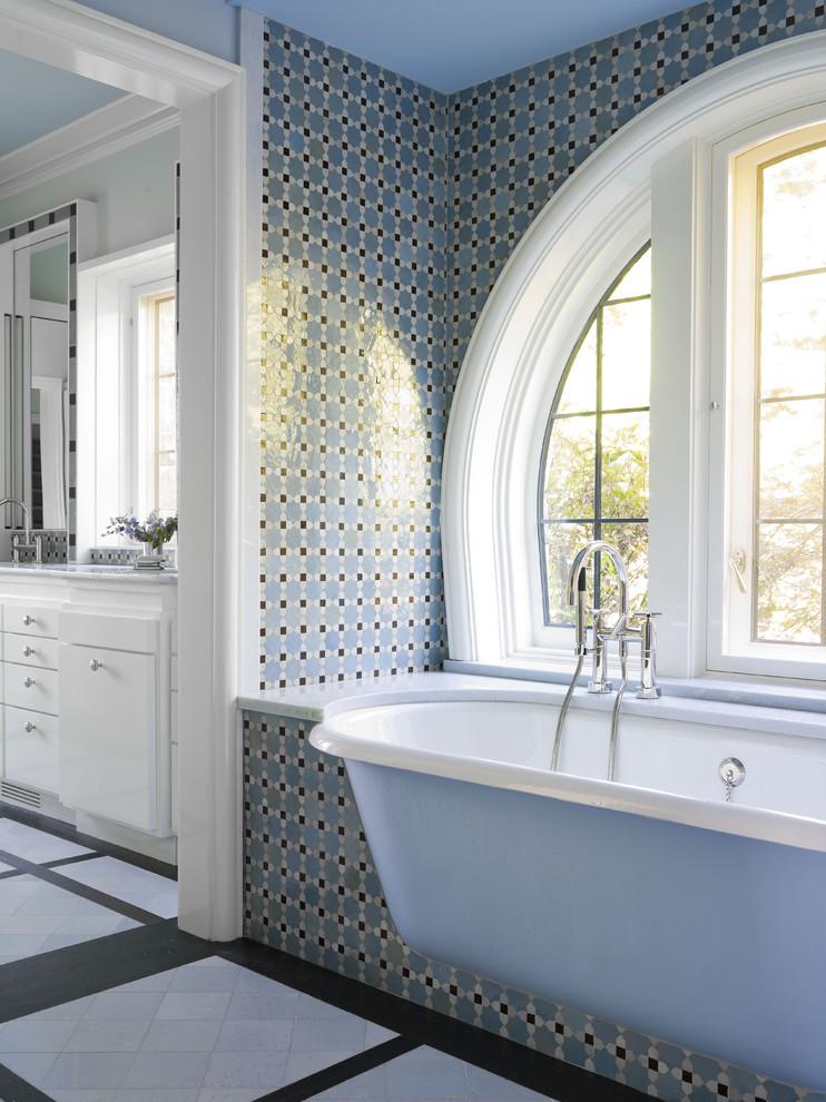 Small Freestanding Bathroom Cupboard Traditional
