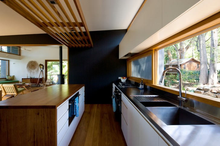 Kitchen , Awesome  Contemporary Black Finish Kitchen Cart With Drop Leaf Photo Inspirations : Stunning  Contemporary Black Finish Kitchen Cart with Drop Leaf Picture