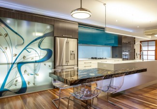 990x634px Lovely  Contemporary Blue Bahia Granite Countertops Image Ideas Picture in Kitchen