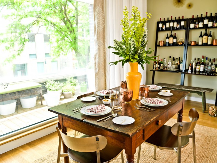 Dining Room , Awesome  Contemporary Dining Table With Wine Storage Ideas : Stunning  Contemporary Dining Table with Wine Storage Inspiration
