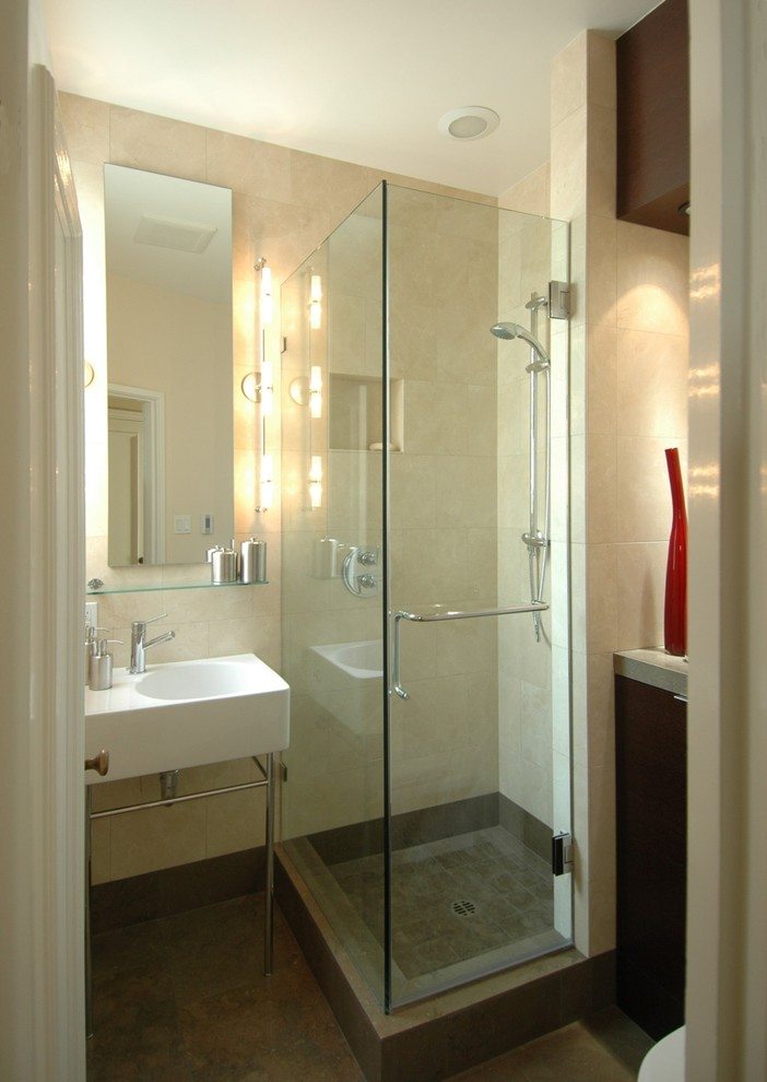 Bathroom , Gorgeous  Contemporary Glass Showers For Small Bathrooms Picute : Stunning  Contemporary Glass Showers for Small Bathrooms Photo Inspirations