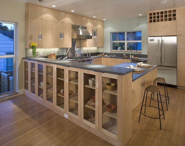 Kitchen , Stunning  Contemporary Kitche Cabinets Picture Ideas : Stunning  Contemporary Kitche Cabinets Photos