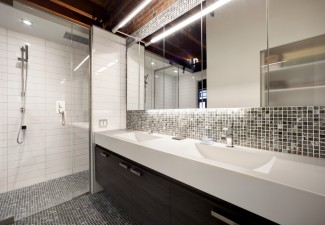 990x656px Beautiful  Contemporary Prefab Formica Countertops Photo Ideas Picture in Bathroom