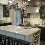 Stunning  Eclectic Island Pot Rack Photo Ideas , Breathtaking  Traditional Island Pot Rack Photos In Kitchen Category
