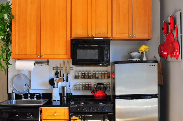 Kitchen , Lovely  Eclectic Small Kitchen Rack Photo Ideas : Stunning  Eclectic Small Kitchen Rack Image Ideas