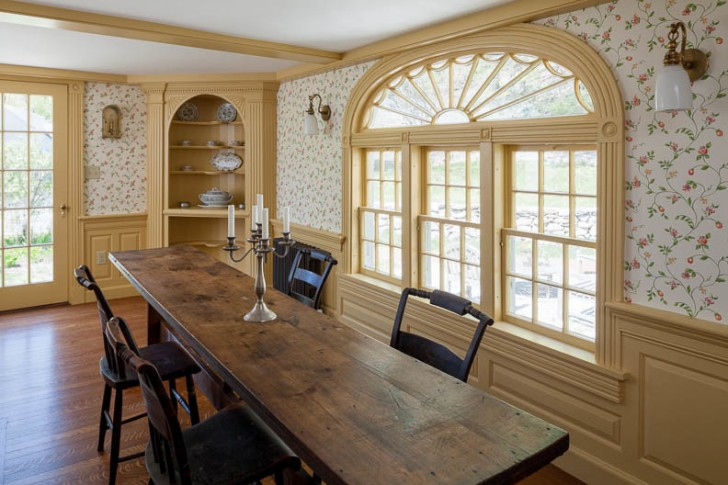 Dining Room , Awesome  Farmhouse Dining Room Tables with Chairs Image Ideas : Stunning  Farmhouse Dining Room Tables With Chairs Photo Ideas