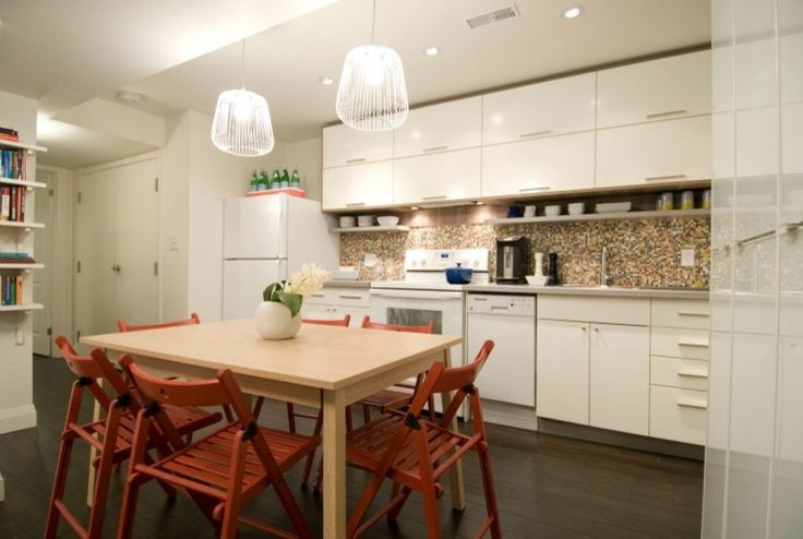 736x494px Charming  Midcentury Ikea Island Table Photo Ideas Picture in Kitchen