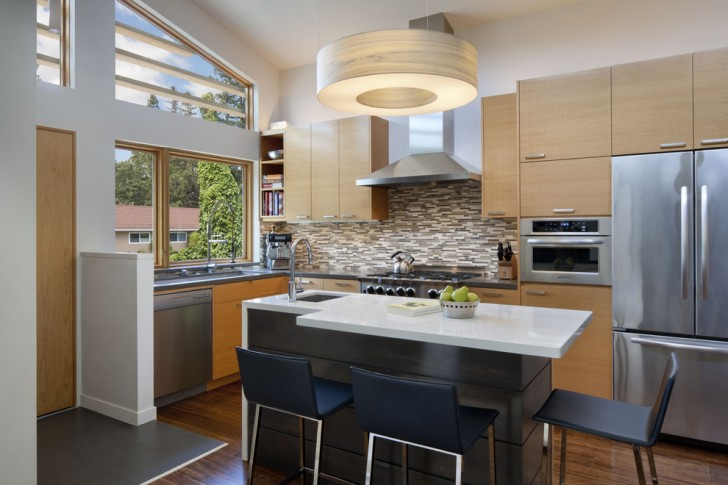 Kitchen , Awesome  Midcentury Manufactured Cabinets Picture Ideas : Stunning  Midcentury Manufactured Cabinets Ideas