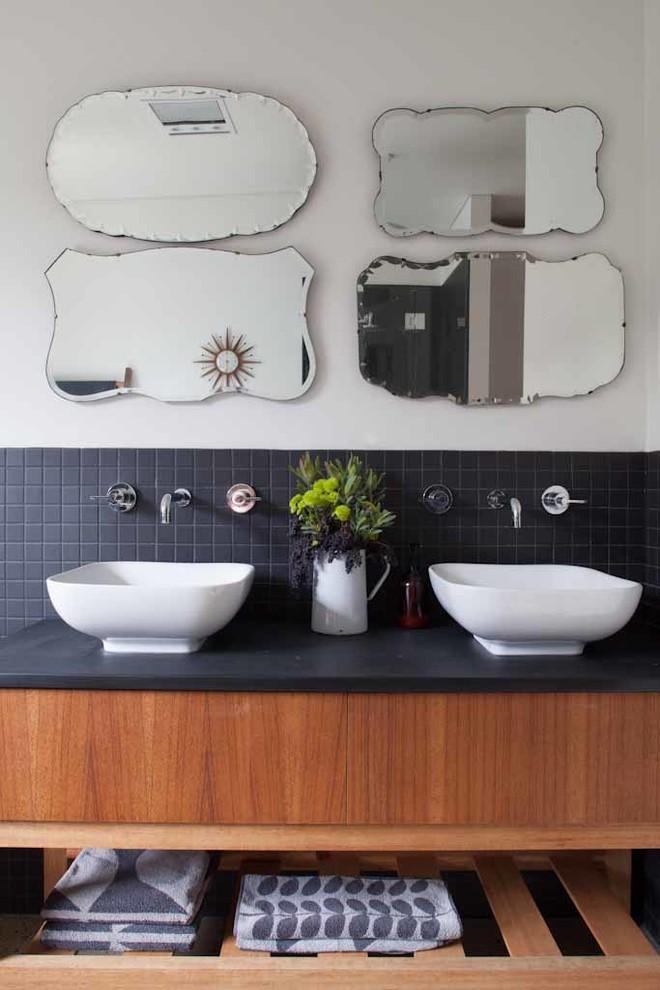 Bathroom , Cool  Midcentury Small Flies In Bathroom Picute : Stunning  Midcentury Small Flies in Bathroom Photos
