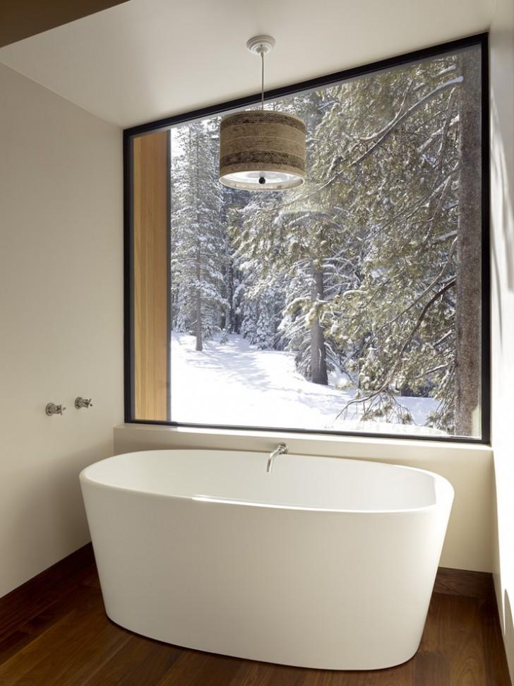 Bathroom , Gorgeous  Modern Soaking Tub In Small Bathroom Picture Ideas : Stunning  Modern Soaking Tub in Small Bathroom Photo Ideas