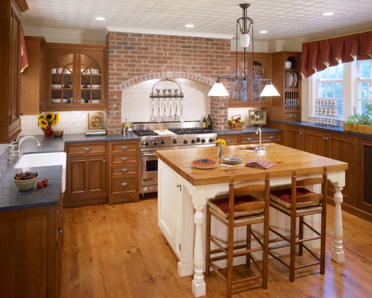 Kitchen , Cool  Traditional White Butcher Block Island Photo Inspirations : Stunning  Traditional White Butcher Block Island Inspiration